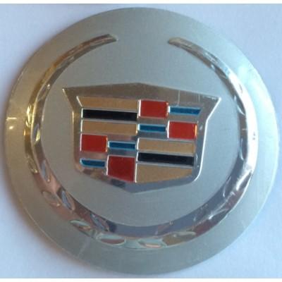Наклейка на диск Cadillac 58 выпуклые с логотипом на колпачок колесных дисков