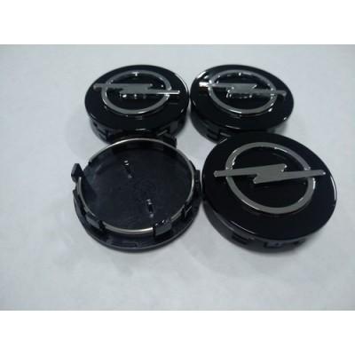 Колпачок в диск OPEL 59/56мм черный+хром заглушка