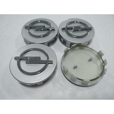 Колпачок в диск OPEL 59/56мм серый+хром заглушка