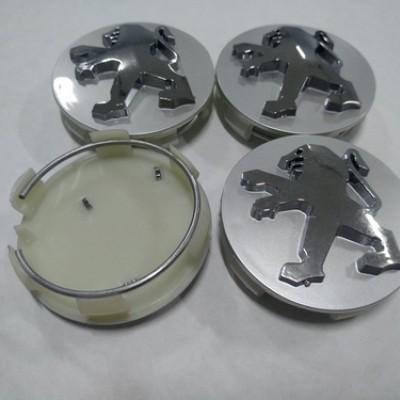 Колпачок в диск PEUGEOT 60/57мм серый+хром заглушка