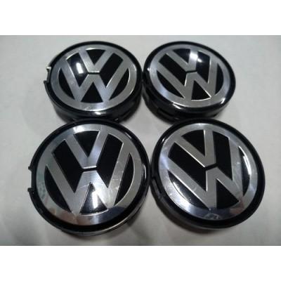 Колпачок в диск VW 66/56мм черный+основание черное выпуклый 5G0 601 171 заглушка