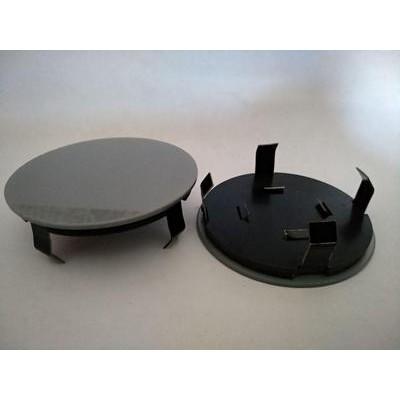Колпачок в диск универсальный серый (метал+пластм) 68мм заглушка
