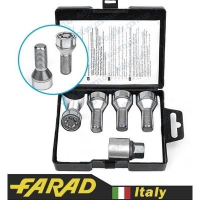 Секретные болты 12х1,25х25 Конус Farad Starlock 1-K/E (2 ключа) на колеса секретки для дисков