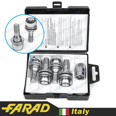 Секретные Болты 12х1,25 L17мм Прессшайба Peugeot/Citroen Farad Flowerlock (2 keys) на колеса секретки для дисков