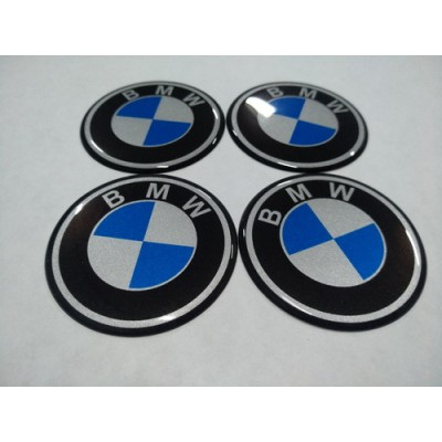 Наклейка на диск BMW 75мм  с логотипом на колпачок колесных дисков
