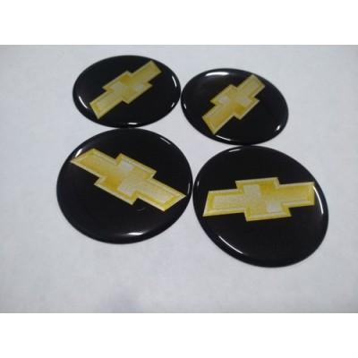Наклейка на диск CHEVROLET 75мм  с логотипом на колпачок колесных дисков