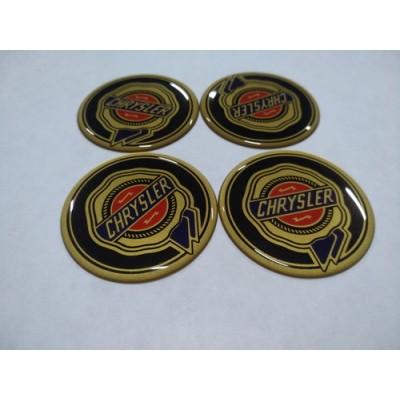 Наклейка на диск CHRYSLER 55mm  с логотипом на колпачок колесных дисков
