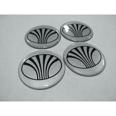 Наклейка на диск DAEWOO серебро 55мм  с логотипом на колпачок колесных дисков