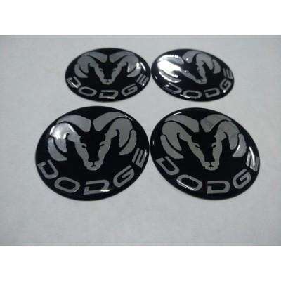 Наклейка на диск DODGE 55mm  с логотипом на колпачок колесных дисков
