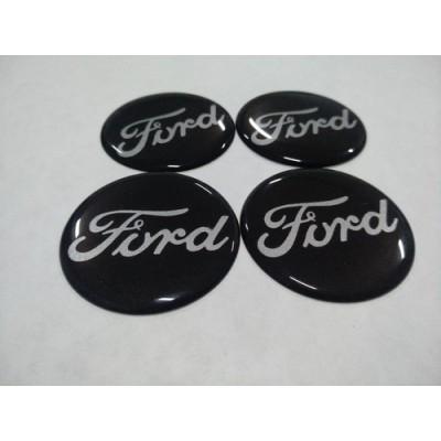 Наклейка на диск FORD черный 65мм  с логотипом на колпачок колесных дисков