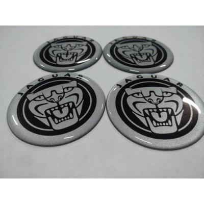 Наклейка на диск JEEP серебряный 55мм с логотипом на колпачок колесных дисков