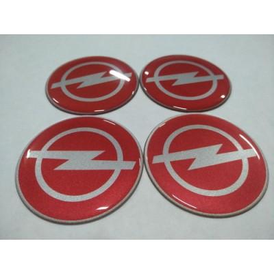Наклейка на диск OPEL красная 65мм  с логотипом на колпачок колесных дисков