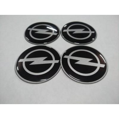 Наклейка на диск OPEL черный 45мм  с логотипом на колпачок колесных дисков