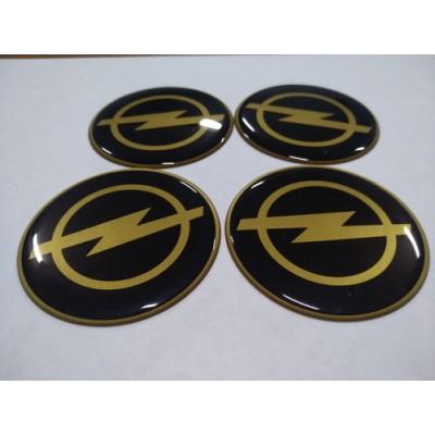 Наклейка на диск OPEL золотой 65мм  с логотипом на колпачок колесных дисков