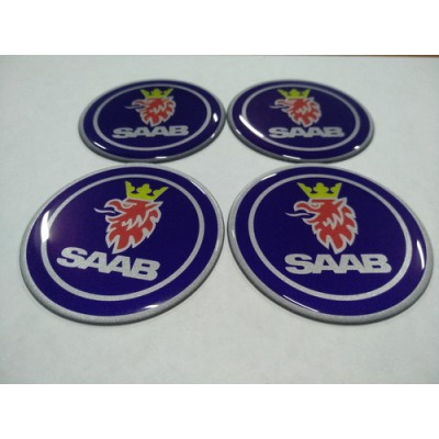 Наклейка на диск SAAB 70мм  с логотипом на колпачок колесных дисков