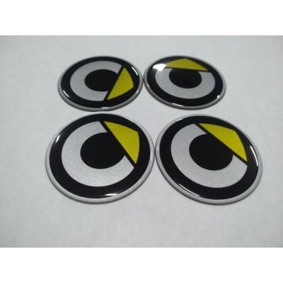 Наклейка на диск SMART 55мм  с логотипом на колпачок колесных дисков