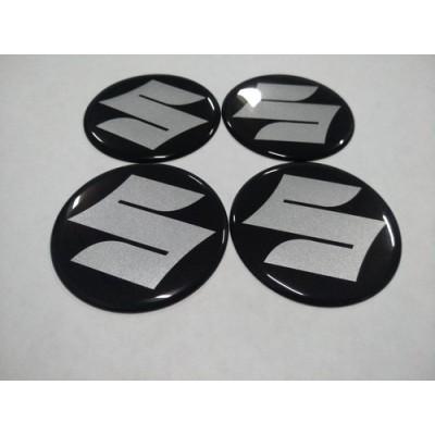 Наклейка на диск SUZUKI черный 50мм  с логотипом на колпачок колесных дисков