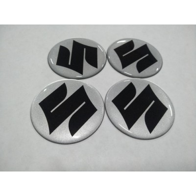 Наклейка на диск SUZUKI серебряный 55мм  с логотипом на колпачок колесных дисков