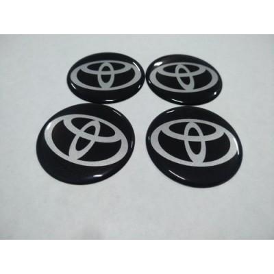 Наклейка на диск TOYOTA черный 60мм  с логотипом на колпачок колесных дисков