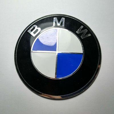 Наклейка на диск BMW d56 выпуклый аллюминий с логотипом на колпачок колесных дисков
