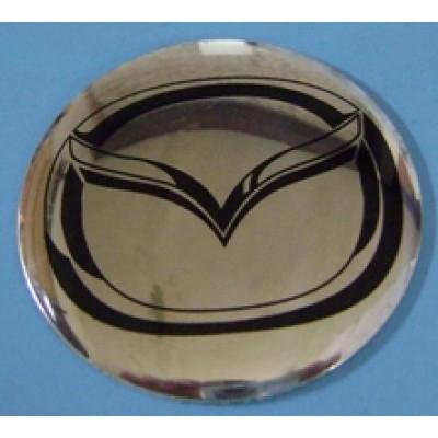 Наклейка на диск Mazda 58 выпуклый с логотипом на колпачок колесных дисков