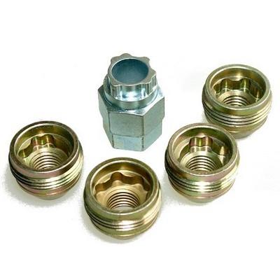 Секретные гайки 14х1,5 L23мм конус McGard  24019 SU на колеса секретки для дисков
