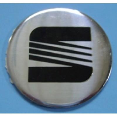 Наклейка на диск Seat 60 плоский с логотипом на колпачок колесных дисков