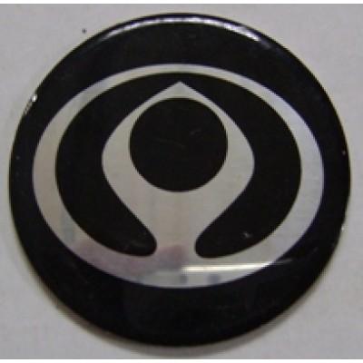 Наклейка на диск Ssang Yong 50 плоский нового образца с логотипом на колпачок колесных дисков
