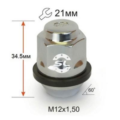 колесные Гайки 12х1,5 L35 конус Hyundai 21 ключ крепления для колесных дисков