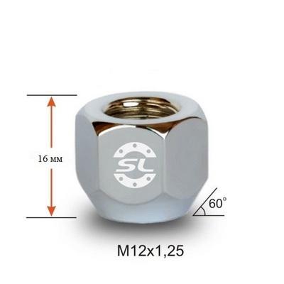 колесные Гайки 12х1,25 L16 открытая 21 ключ крепления для колесных дисков
