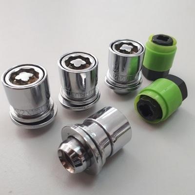 Секретные Гайки 12х1,25 L37мм Прессшайба 21 ключ Technoloсk Elit на колеса секретки для дисков