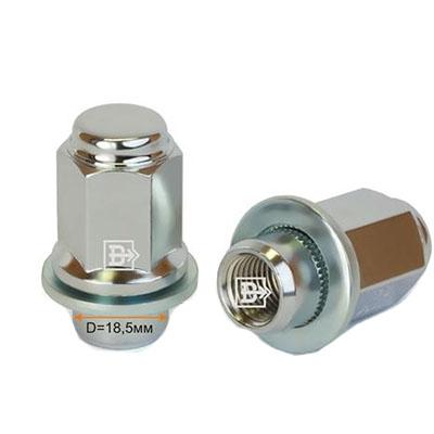 колесные Гайки 12х1,25 с шайбой L47,5 21 ключ Хром крепления для колесных дисков