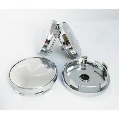 Колпачки на диски Infiniti 60/56мм для неоригинальных дисков заглушка