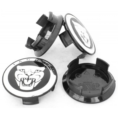 Колпачки на диски Jaguar 59/50 Черные 9W9M-1A096-AC4 заглушка