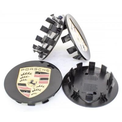 Колпачки на диски Porsche (76/59) Черные 7PP601150A заглушка