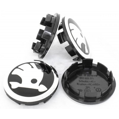 Колпачки на диски Skoda (65/56) 3B7601171 New Logo заглушка