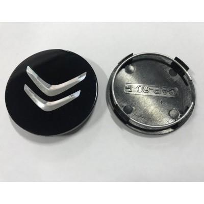 Колпачок в диск CITROEN 60/56мм черный плоский (Cap-60-F) заглушка