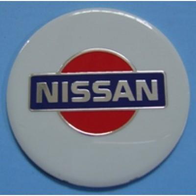 Наклейка на диск Nissan 60 плоский с логотипом на колпачок колесных дисков