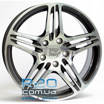 WSP Italy Porsche (W1050) Philadelphia 10x18 5x130 ET50 DIA71,6 (anthracite polished) в Днепре