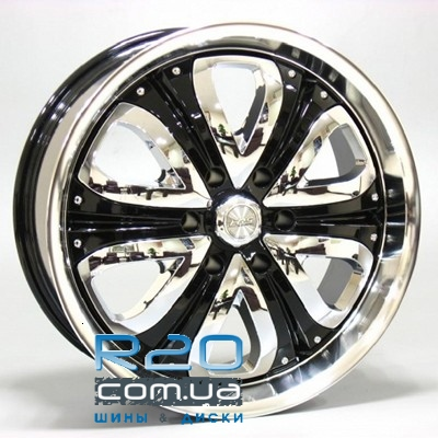 Racing Wheels H-383 8,5x20 6x139,7 ET15 (BK/CW-P) в Днепре