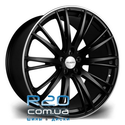 Riviera RV128 10,5x22 5x110 ET25 DIA74,1 (black polished lip) в Днепре