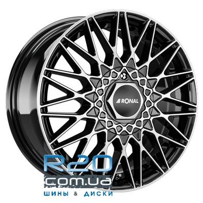 Ronal LSX 7x16 5x112 ET50 DIA76,1 (jet black front diamond cut) в Днепре