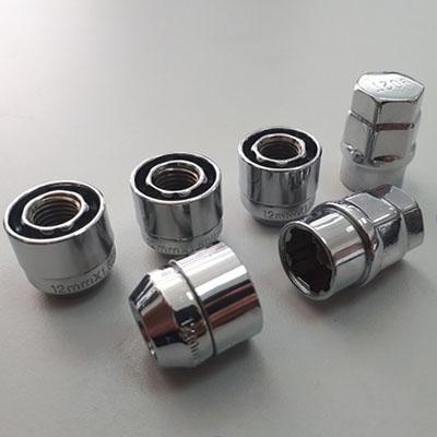 Секретные Гайки 12х1,5 L22мм Конус 19, 21 ключ Korex на колеса секретки для дисков