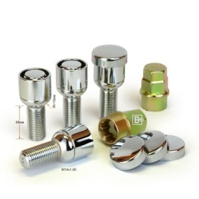 Секретные Болты 14х1,5 L45мм Cфера 17,19 ключ Вектор на колеса секретки для дисков