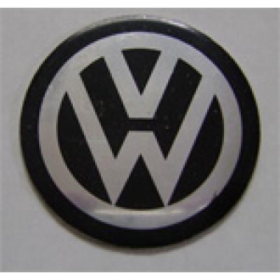 Наклейка на диск Volkswagen 55 плоский с логотипом на колпачок колесных дисков